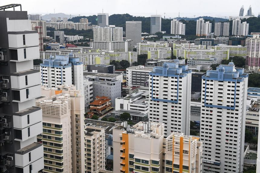 A general view of private and public housing in Singapore.