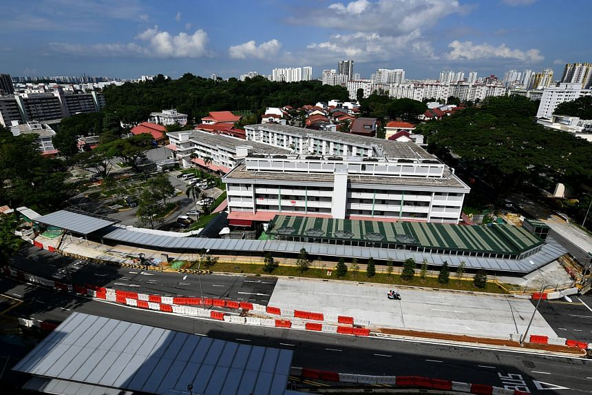 The worksite for Mayflower station, which is part of Stage 2 of the Thomson-East Coast MRT Line, in Ang Mo Kio Avenue 4 last month. The Land Transport Authority says it is still assessing the impact of the coronavirus pandemic on the timeline of the