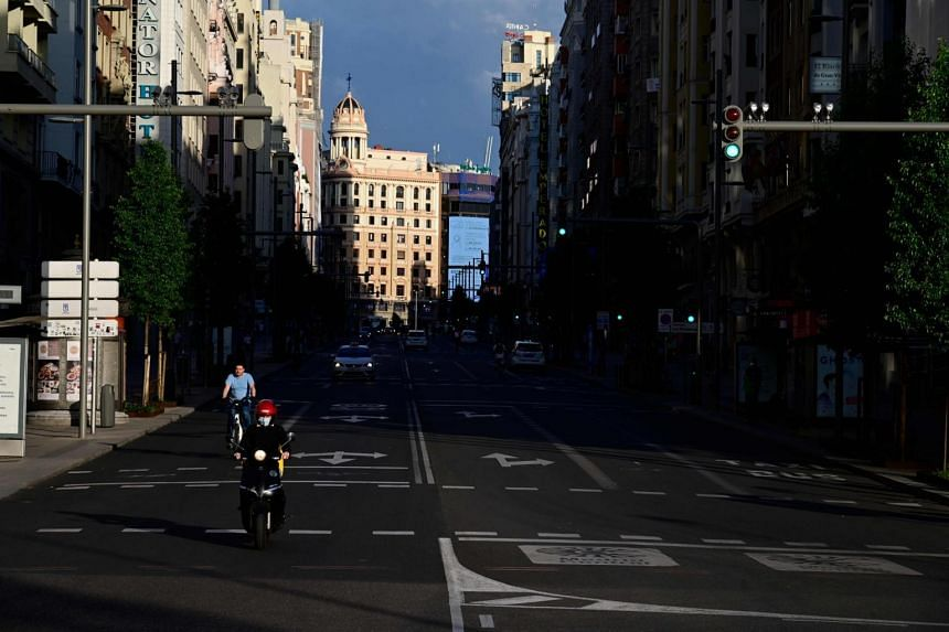 On an annual basis, Spain's economy shrank by 22.1 per cent, versus a 4.1 per cent contraction in the previous quarter.