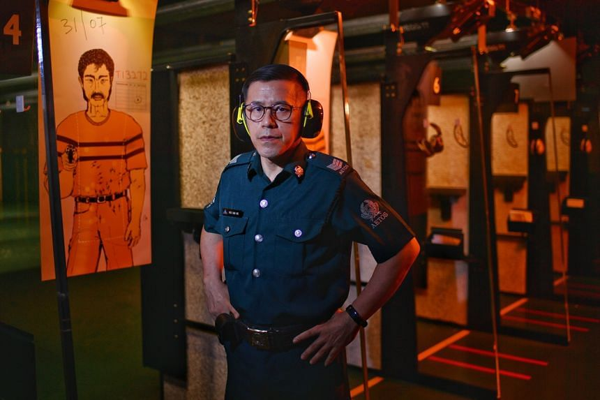 Auxiliary police officer Hoo Ban Aik, 49, started work on the security team at the Institute of Mental Health this year.