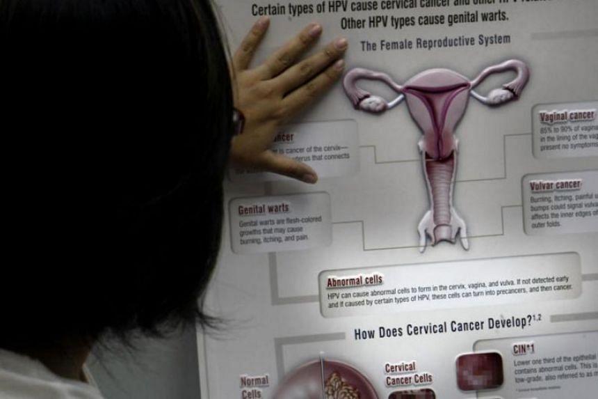A poster on cervical cancer.