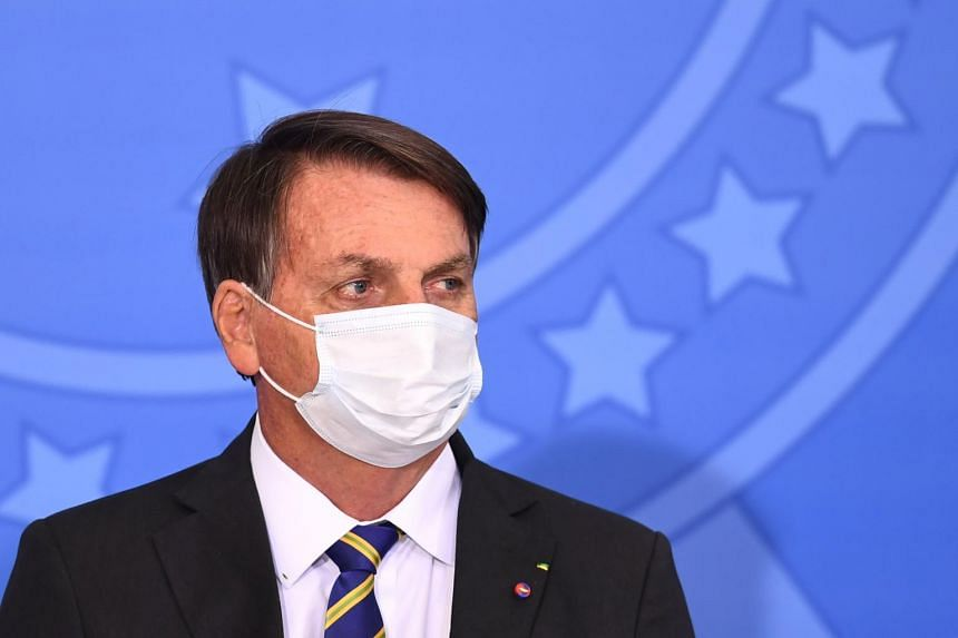 Brazilian President Jair Bolsonaro has faced criticism for his handling of the pandemic as it has surged in Brazil.