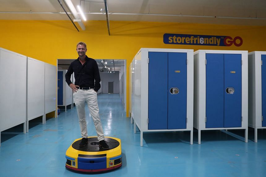 Mr Jes Johansen, co-founder and CEO of Storefriendly, at the self-storage area of its Paya Lebar building. The firm launched co-working space Workfriendly at the building last month, catering to both industrial and more formal office requirements. ST
