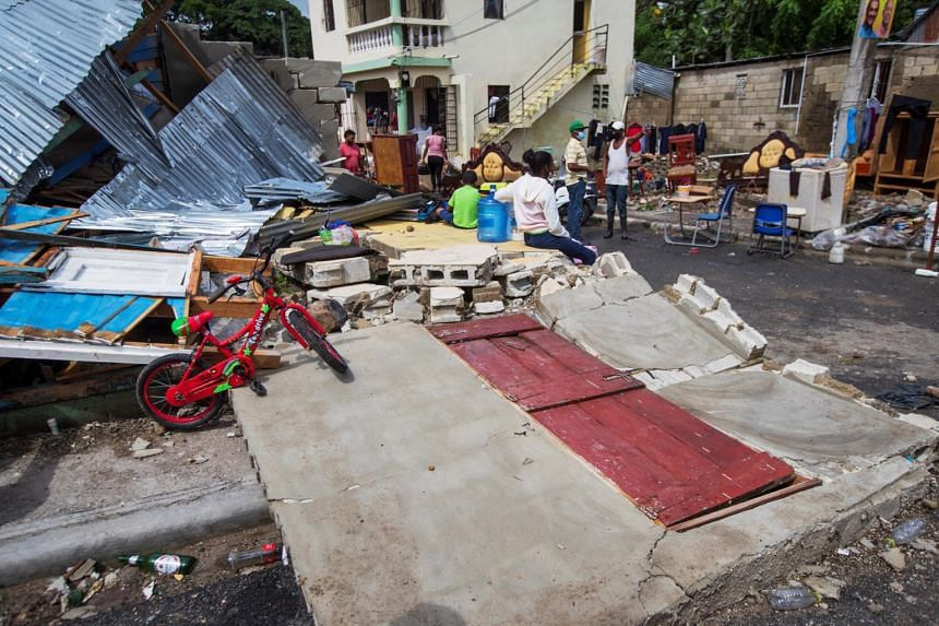 Destroyed houses by Hurricane Isaias in Hato Mayor, Dominican Republic, on July 31, 2020.