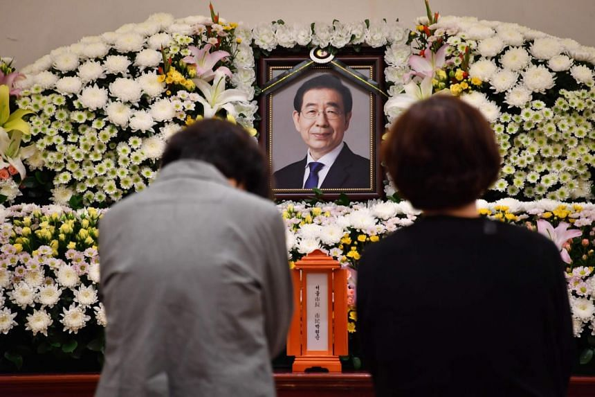 Mr Park Won-soon's death prompted soul searching about deep-rooted malpractices in South Korea's male-dominated work environment.