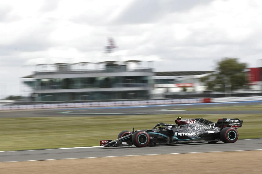 Mercedes' Valtteri Bottas during the third practice session of the British Formula One Grand Prix in Silverstone on Aug 1, 2020.