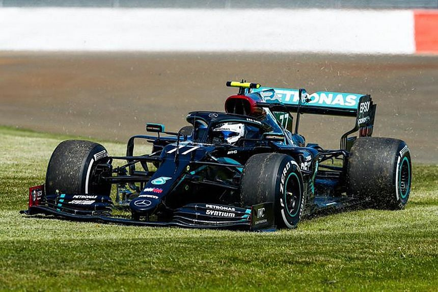 SWEET TWEET Mercedes promoting the world's fastest lawn mower at Formula One's British Grand Prix: (Valtteri) Bottas' Mowing Service, now available in the UK.