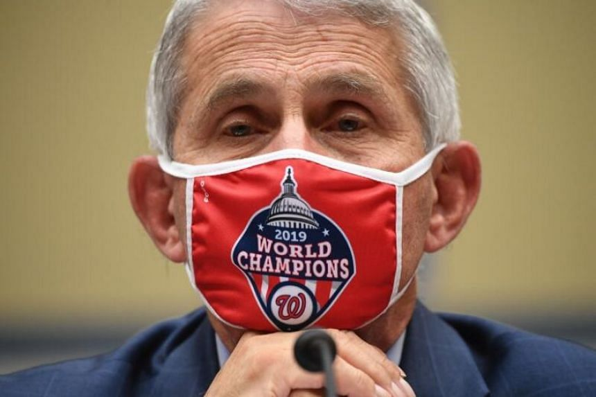 Dr Anthony Fauci testifies during a House Subcommittee on the Coronavirus Crisis hearing in Washington, DC on July 31, 2020.