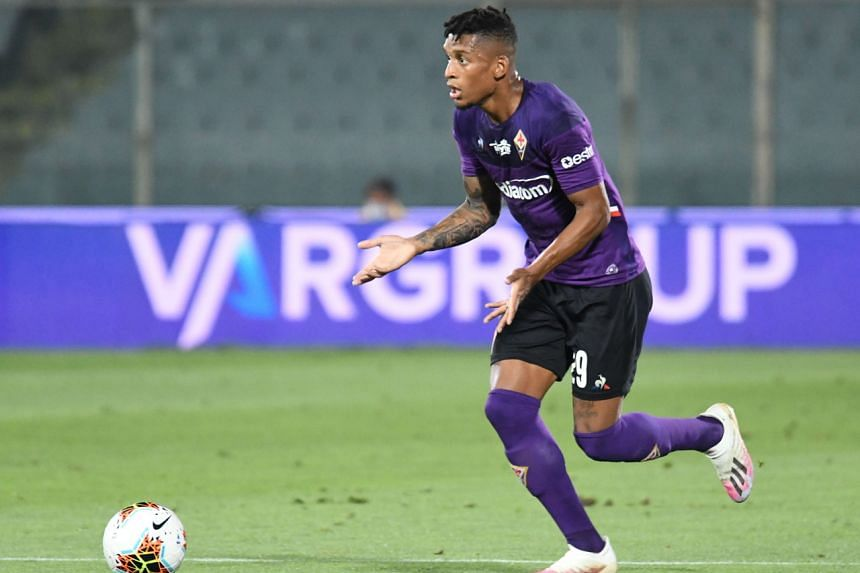 Fiorentina's defender Dalbert in action during a match against Bologna FC at the Artemio Franchi stadium in Florence on July 29, 2020.