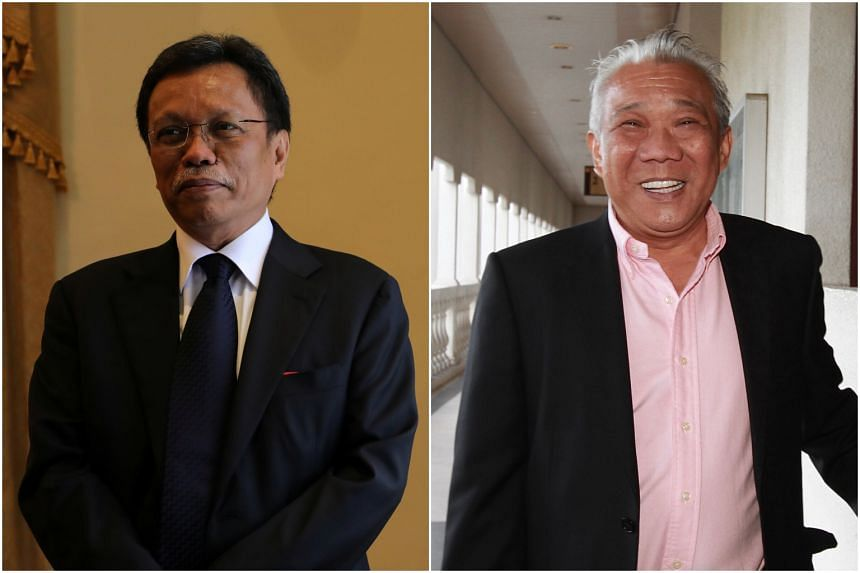 Warisan president Mohd Shafie Apdal's (left) coalition faces stiff competition from Sabah Umno led by Bung Moktar Radin.