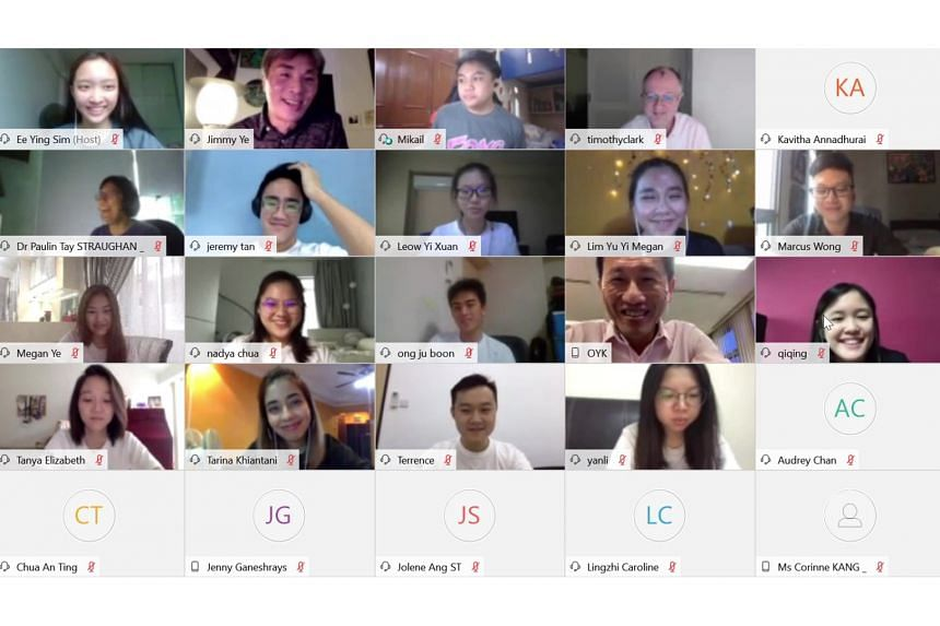 Transport Minister Ong Ye Kung, who until recently helmed the Ministry of Education, taking part in a virtual orientation session with new students of Singapore Management University last week.