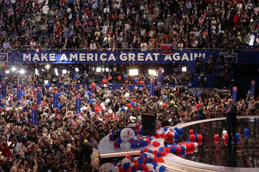 The Republican National Convention in Cleveland, Ohio, on July 21, 2016. This year's convention will take place in North Carolina.