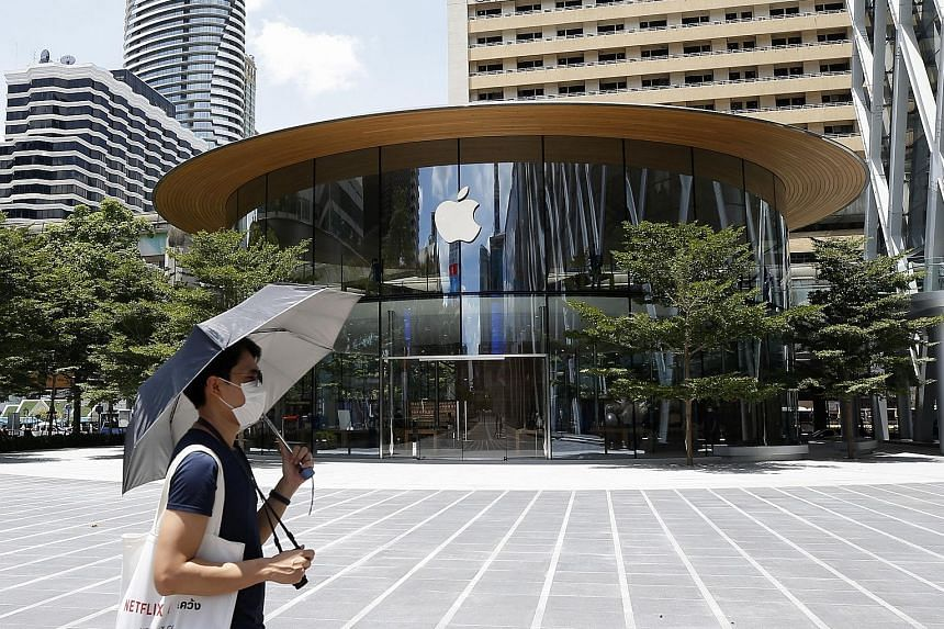 APPLE: The US giant topped the filing list for design, which refers to features like shape and colour that distinguish the article or non-physical product. PHOTO: EPA-EFE HUAWEI TECHNOLOGIES: The Chinese firm was the top filer for trademarks last yea