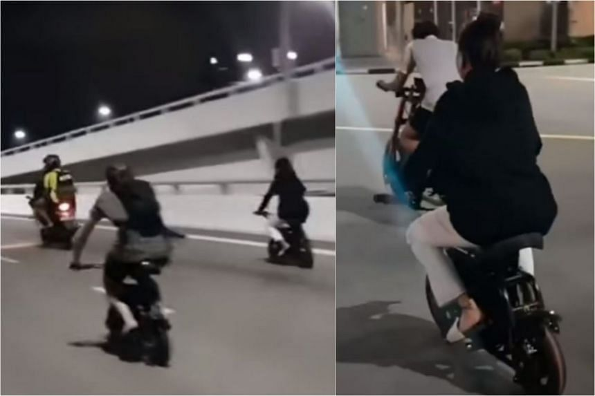 In a video posted on the SG Road Vigilante Facebook page, the riders are seen cruising down mostly empty roads at night.