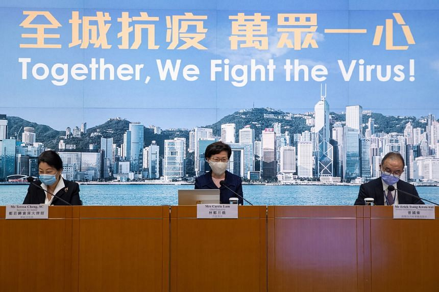 Hong Kong's leader Carrie Lam postponed the election, citing public health dangers in the Chinese-ruled city.