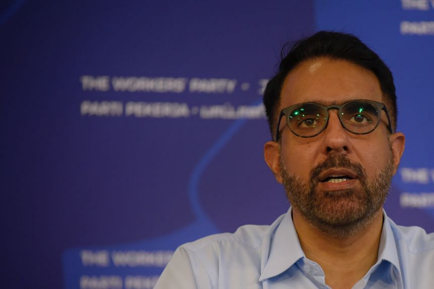 Workers' Party Secretary-General Pritam Singh gives a press confefence at the party headquarters on July 12, 2020.