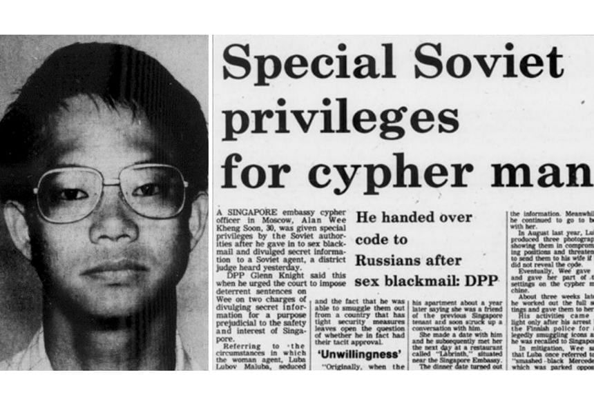 Alan Wee Kheng Soon, a cypher officer at the Singapore Embassy in Moscow in 1980, passed secret information to a Soviet operative.