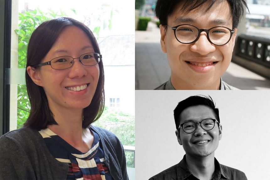 (Clockwise from left) Editors Ann Ang and Daryl Lim Wei Jie, together with author Tse Hao Guang, edited Food Republic, an anthology of fiction and poetry about Singapore food.