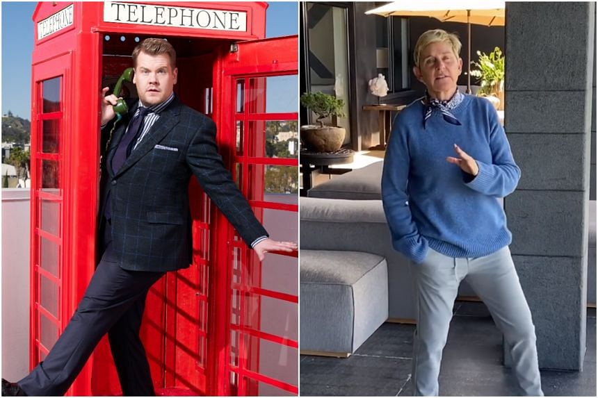 "A source told The Sun that James Corden (left) has long been seen as the ""long-term successor"" to Ellen DeGeneres even before allegations surfaced."