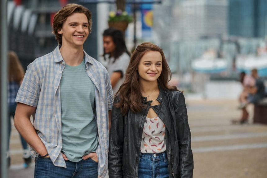 Joey King (right) and Joel Courtney, who play platonic friends and best pals in the popular The Kissing Booth rom-coms.