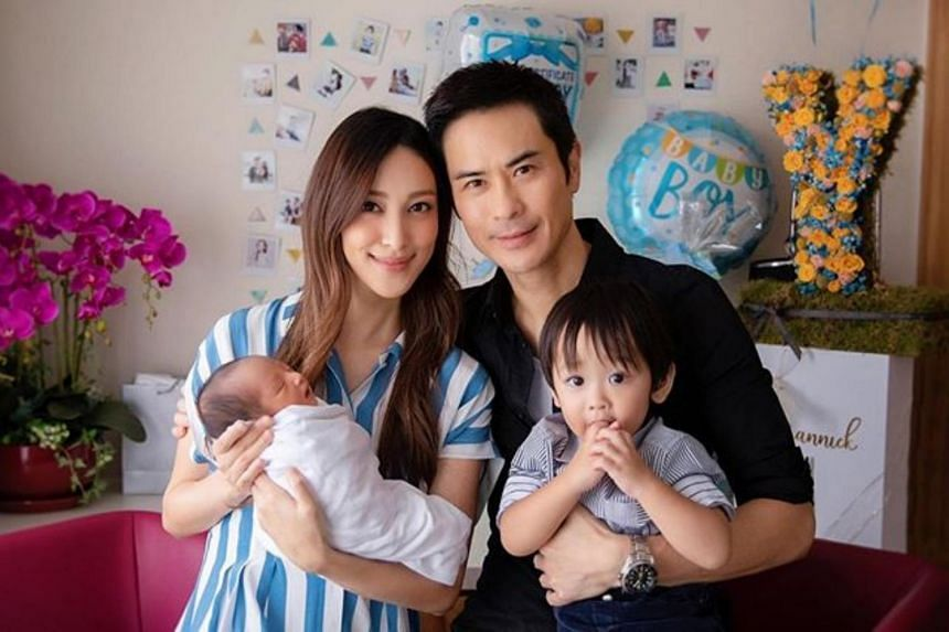 The pair posted a photo of their family of four on their respective social media accounts.