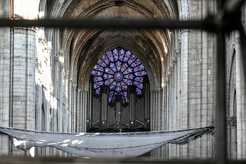 A file photo shows the grand organ in the Notre-Dame Cathedral in Paris, on July 17, 2019.