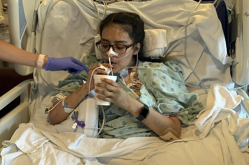 Mayra Ramirez, 28, after her surgery at Northwestern Memorial Hospital in Chicago.