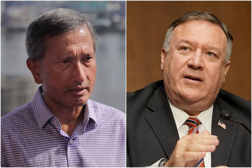 Foreign Minister Vivian Balakrishnan and US Secretary of State Mike Pompeo agreed on the importance of ensuring that vaccines will be made available globally, among other matters.