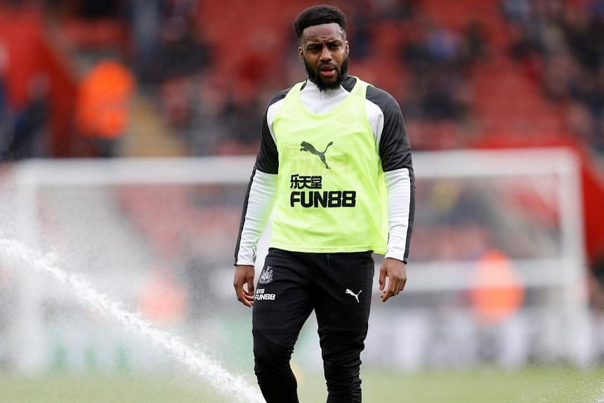 A photo taken on March 7, 2020, shows Newcastle United's Danny Rose before the Premier League match against Southampton at St Mary's Stadium.