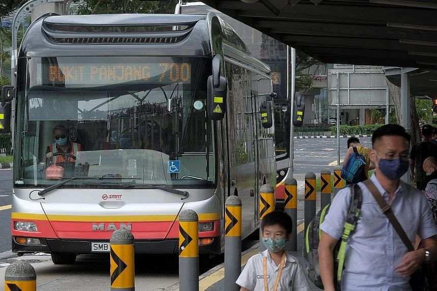 Planned changes to key bus services in Bukit Panjang announced this week have caused concern among residents, and petitions aiming to put a stop to them garnered over 1,000 names within the first 24 hours. ST PHOTO: GAVIN FOO