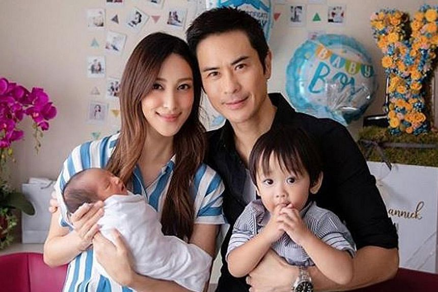 WELCOME, LITTLE PRINCE: Hong Kong celebrity couple Kevin Cheng and Grace Chan are parents again. The pair made the announcement on their respective social media accounts on Monday and posted a photo of their family of four. Cheng, 50, and Chan, 29, m