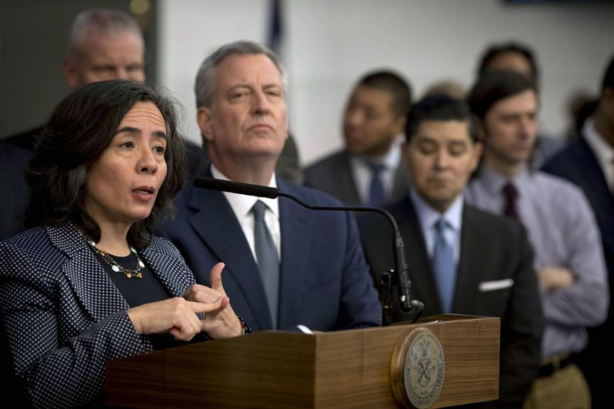 Current and former health officials said the departure of Dr Oxiris Barbot (left) reflected Mayor Bill de Blasio's history of distrust in his health department.