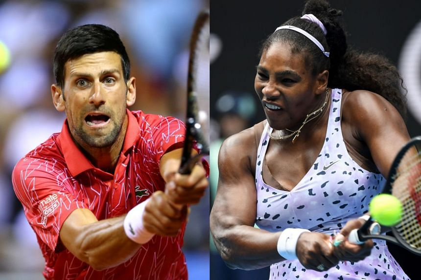 Novak Djokovic (left) and Serena Williams are among players that have entered the US Open.