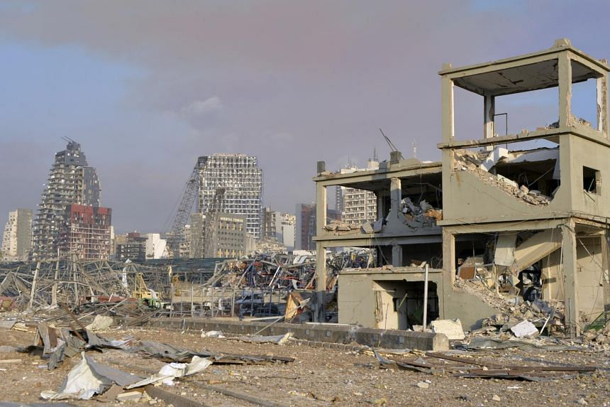 Across Beirut, entire streets were wiped out and glass shards littered much of the inner city.