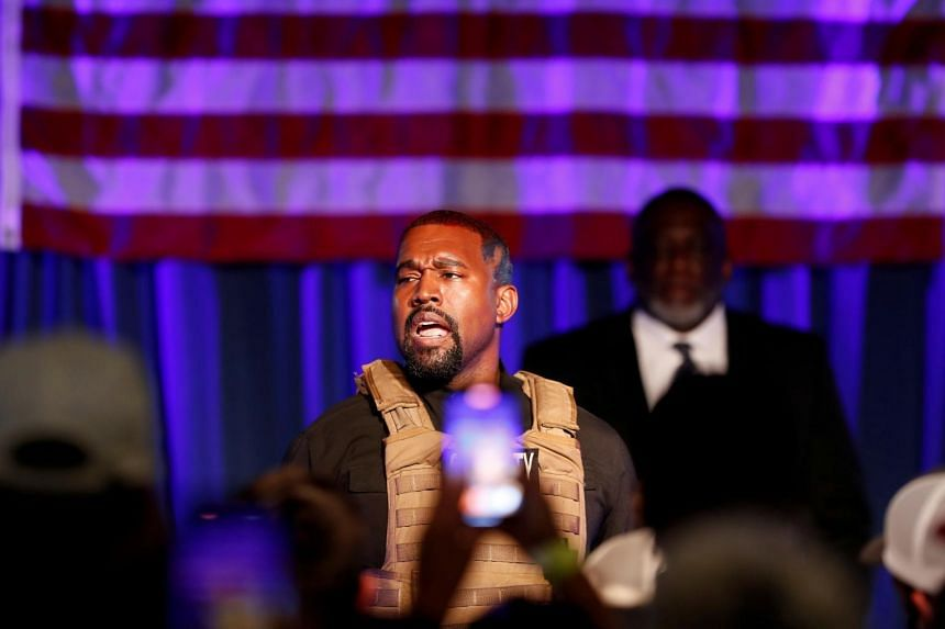 Rapper Kanye West holding his first rally in support of his presidential bid in North Charleston, on July 19, 2020. With little resemblance to a viable campaign, it is unclear why ballots are still being gathered on his behalf.