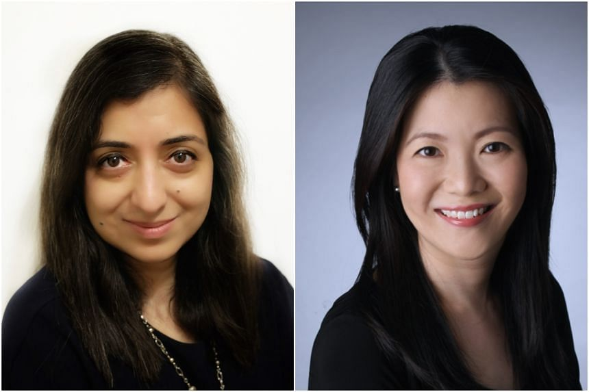 Ashmita Acharya (left) will be head of retail banking while Chan San San is now appointed Asia Pacific and EMEA Citigold Private Client business head from Oct 1.