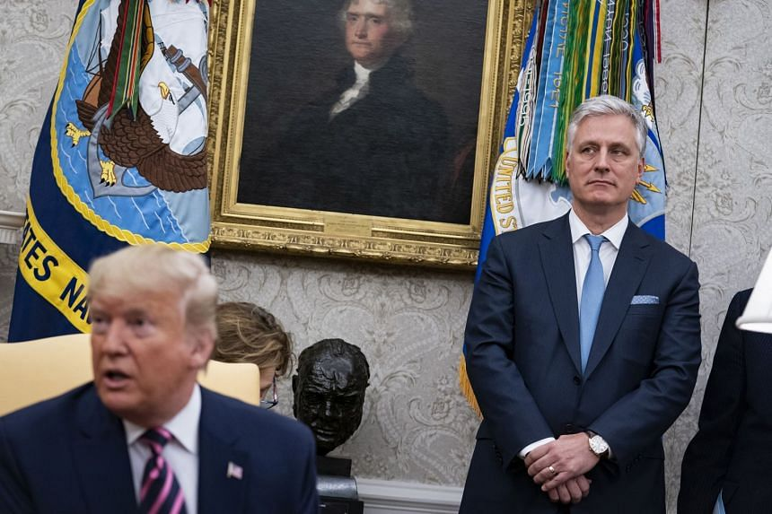 National Security Advisor Robert O'Brien during a meeting with President Donald Trump,