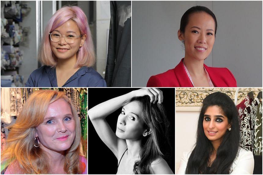 (Clockwise from top left) Cara Chiang, Carol Chen, Nida Tahir Shaheryar, Adelyn Putri and Mette Hartman.