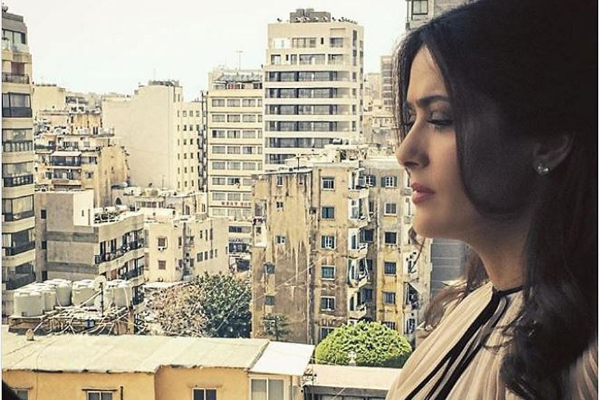 Actress Salma Hayek shared a video of the Beirut explosions on Instagram.
