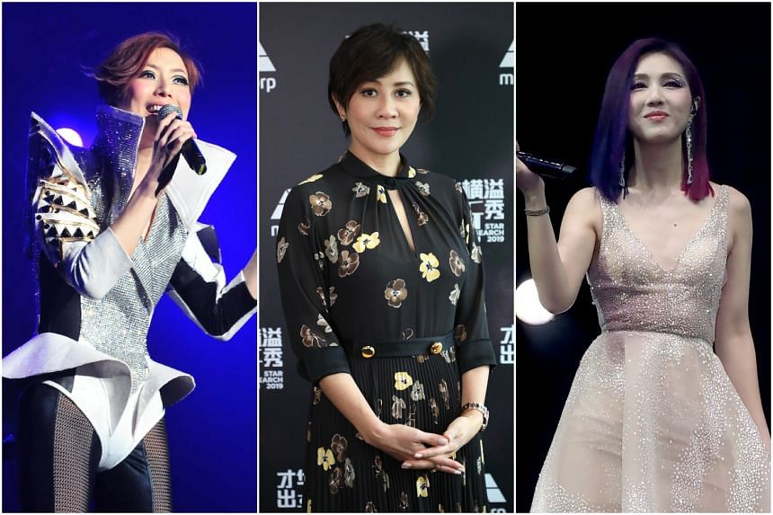 (From left) Sammi Cheng, Carina Lau and Miriam Yeung are among the celebrities who took part in the cause.