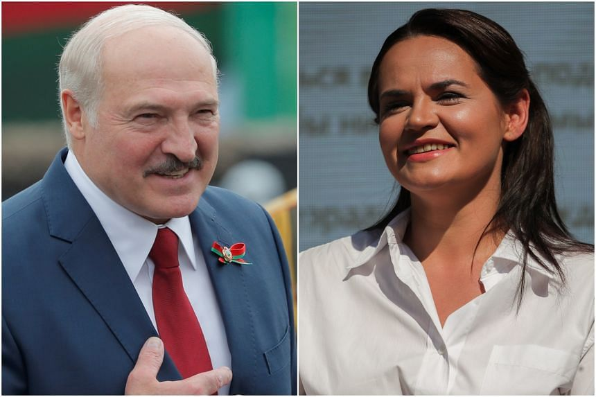 Svetlana Tikhanovskaya (right) has emerged as Alexander Lukashenko's strongest rival.