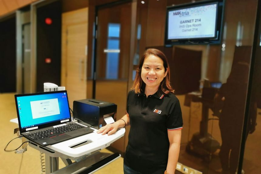 Healthcare director Jessie Ho of Integrated Health Information Systems and her team had just four days' notice to create a community isolation facility at the Singapore Expo in April.