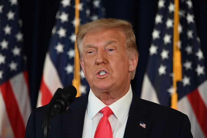 Trump speaks during a news conference in Bedminster, New Jersey, on Aug 8, 2020.
