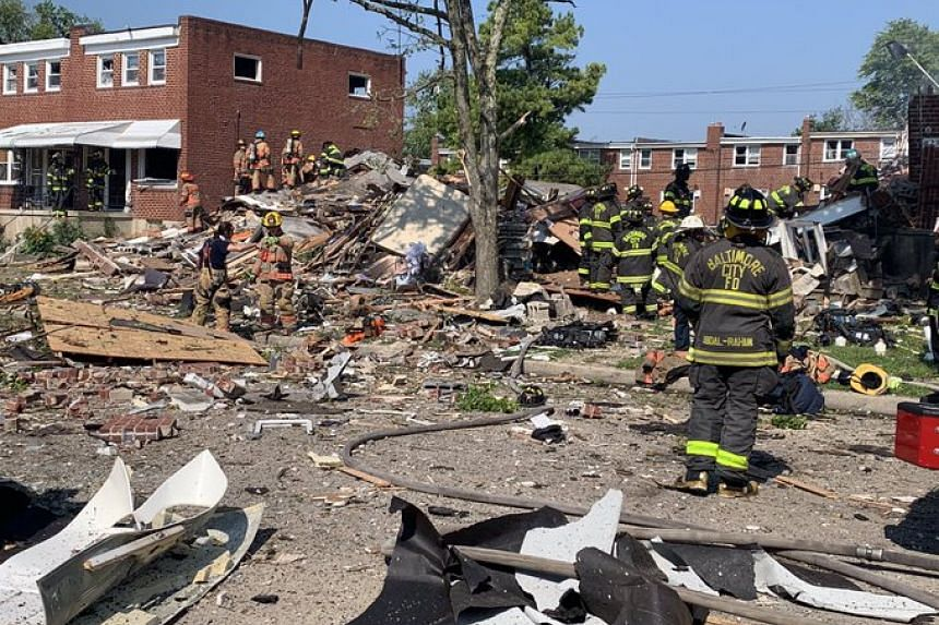 Major explosion reported in US Baltimore, several houses destroyed