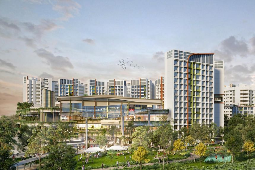 Parc Residences @ Tengah is the first BTO housing parcel to be launched for sale in the new Park district.