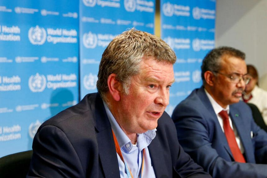 Dr Mike Ryan, head of WHO's emergencies programme, during a news conference in Geneva on Feb 6, 2020.