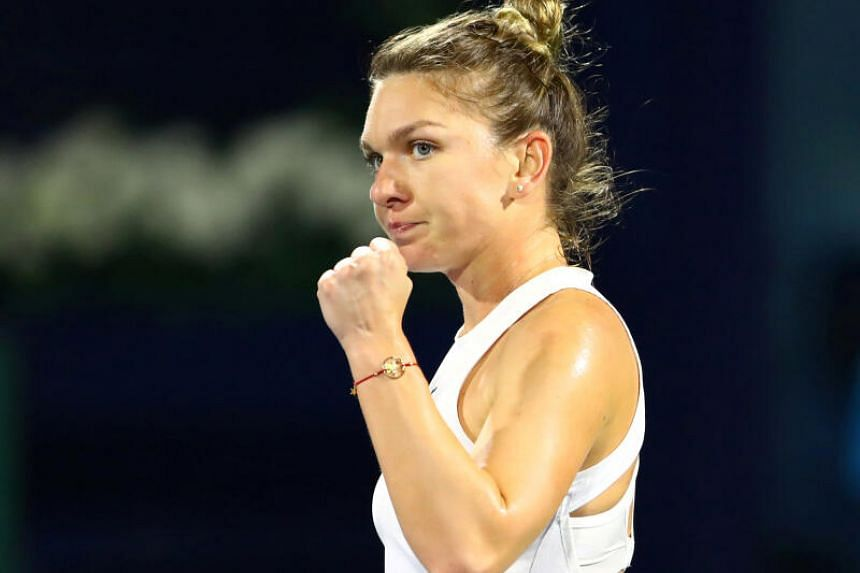Simona Halep was making her first appearance on the WTA Tour after skipping the Palermo Ladies Open last week.