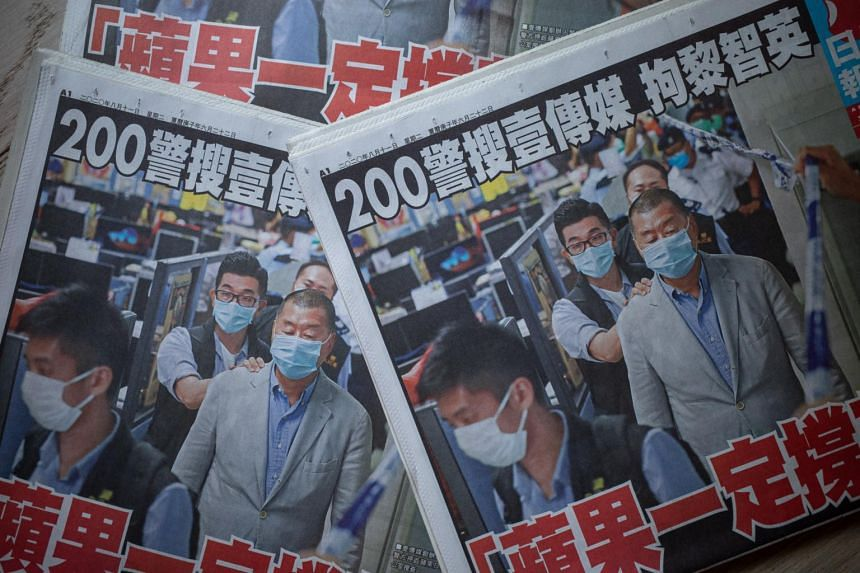 The front page headline read: 'Apple Daily must fight on.'
