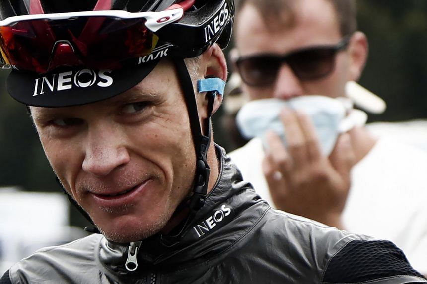 Chris Froome had broken a leg, ribs and an elbow on the race in June 2019.