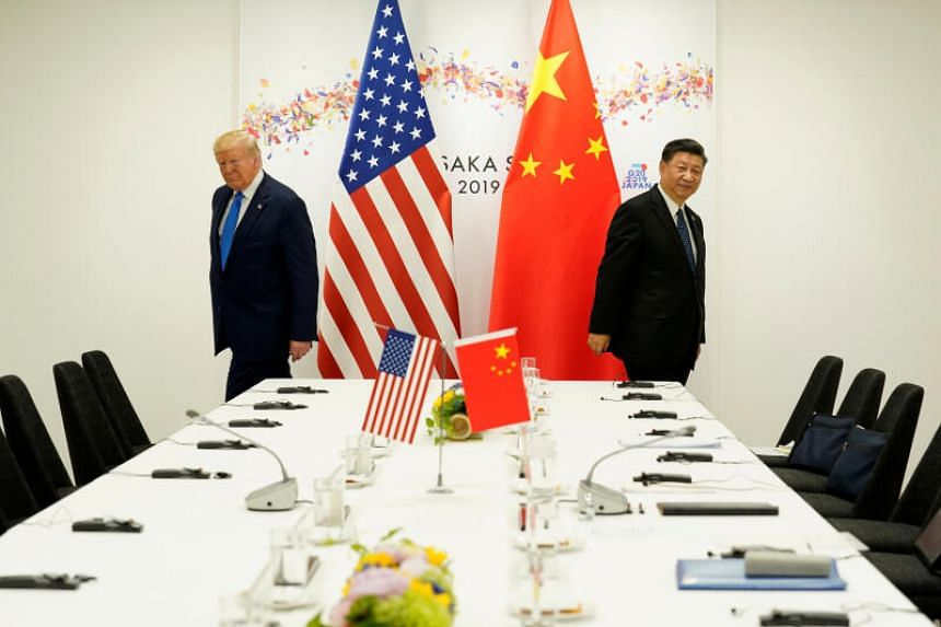 US President Donald Trump (left) said he has not spoken to Chinese Preisdent Xi Jinping in long time.
